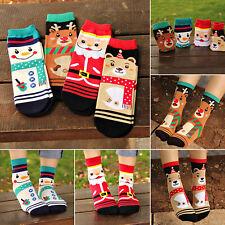 Cute Women Girls Winter Warm Christmas Socks Santa Claus Deer Novelty Xmas Gift