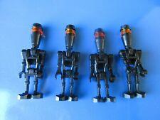 Lot of 4 Black Assassin Droid Elite LEGO Minifigure Lot Star Wars 8015 7930 8128