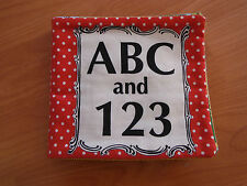 AMERICAN JANE, FABRIC BOOK PANEL. Peas and Carrots. Adorable vintage themed.