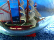 "3 Masted Sailing Ship Amazing Detail in a 6"" long pinch bottle ""Ship in Bottle"""