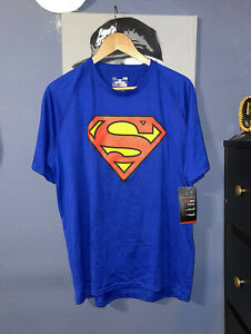 NWT Under Armour Alter Ego Superman Shirt Men's Size Large Loose Fit