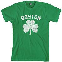 Threadrock Men's Boston Shamrock Irish Pride T-shirt