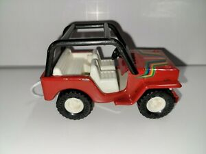 Vintage Buddy L Red Jeep Great Condition Toy Car Good Stickers Metal