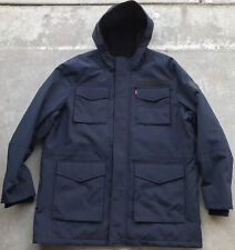 Levi's Sherpa Lined Hooded Parka Fleece Lined Coat Size 2XL Navy Blue
