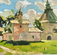 professional painting art realism vintage landscape churches church