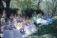 Wedding Party 1950s 35mm Slide Vtg Red Kodachrome Pretty Women Dresses Fashion