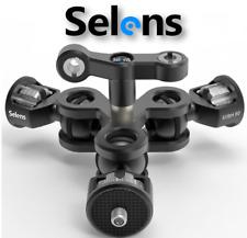 "Selens Magic Arm Triple Ballhead 1/4"" 3/8"" Screw For Photo Camera Cage Monitor"