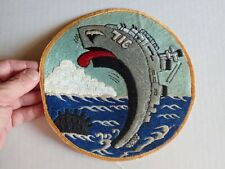 "Rare Korean War 8"" Patch USS WILTSIE DD-716 US Navy Destroyer, Japan Made"