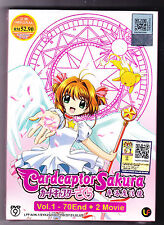 *NEW* CARDCAPTOR SAKURA *70 EPS/2 MOVIES*ENG SUBS*ANIME DVD*US SELLER*FREE SHIP*