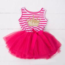 Tutu Striped Dresses (0-24 Months) for Girls
