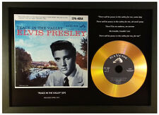ELVIS PRESLEY 'PEACE IN THE VALLEY' SIGNED GOLD PRESENTATION DISC