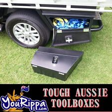 BLACK RHS SPORTS UTE TOOL BOX UNDERBODY POLY TIEDOWNS ROPES 4X4 4WD UTES NEW ✔