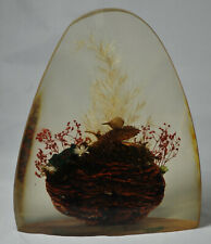 Vintage Signed Cristull Lucite Acrylic Sculpture Paperweight