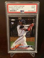 2018 Topps Chrome Ronald Acuna Jr. Xfractor Rookie PSA 9 Atlanta Braves SP RC