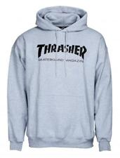 THRASHER Skate Mag - Skateboard Hoodie - Hooded Top / Hoody - Grey - S