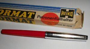 DDR Heiko Format P 440 Patronenfüllhalter Füller Füllfederhalter m. Verpackung