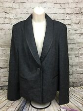 Investments Blazer Women's Size 16 Black Speckled Fully Lined NWTs