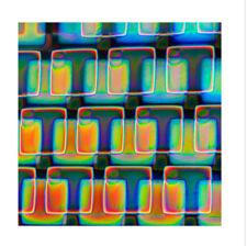 Dichroic Glass 90 COE Boxes 2 on Thin Black CBS 5x10 cm