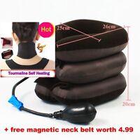 Cervical Neck Traction Device Headache Shoulder Pain Relax Brace Support Pillow