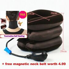 Cervical Neck Traction Device Headache Shoulder Pain Relax Brace Support Pillow