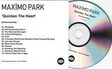MAXIMO PARK Quicken The Heart Instrumentals UK 12-trk promo publishing CD