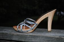 New Authetic Guess Sandals By Marciano Control Silver Multi Size  10