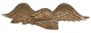 VTG🦅Antique Folk Art Authentic 'B' carved Bellamy Eagle Wood Carving Americana