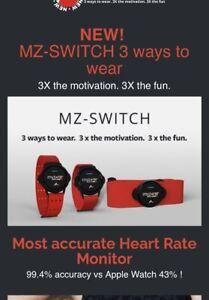 MyZone MZ Switch Wrist Unit Including Free Storage Pouch (works While Swimming)