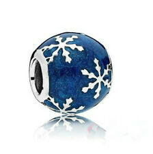 Fashion 925 Silver Snowflake Charm European Spacer Beads Fit Necklace Bracelet !
