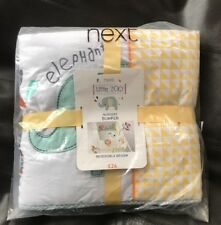 With Tags NEXT Ocean Days Cot Bumper Reversible Design Nursery Bedding