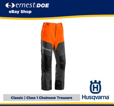 Husqvarna Classic Chainsaw Trousers | Class 1 | Perfect for Firewood Cutting