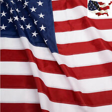 5'x8' Ft Usa Us U.S. American Flag Embroidered Sewn Stripes Stars Brass Grommets