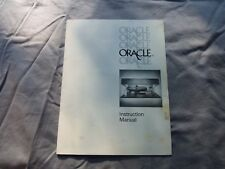 Original Oracle Turntable Manual Excellent Condition