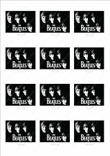 Novelty The Beatles Cake Cupcake Toppers Edible Wafer Birthday Novelty Music Fun