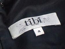 TIBI,NewYork MonochromeAnimalPrint100%CottonGenLeatherTrim SizeUS4