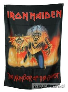 Iron Maiden Poster Flag The Number Of The Beast Licensed Made In ITALY Tapestry