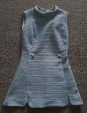 Amazing  60's vintage 'Twiggy' lurex mini gogo dress Rodney slimfit sz 8 - 10