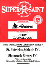 1994/95 St Patrick's Athletic v Shamrock Rovers, League Cup, PERFECT CONDITION