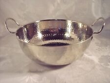 Hand Hammered Silver metal Bowl