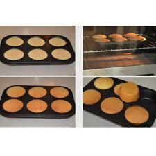 Cake Baking DIY Non-stick Steel Baking Cupcake 6 Cups Baking Mould Sheet Tray