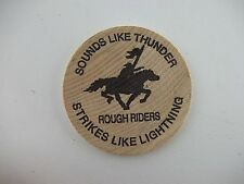 Rough Riders Operation Enduring Freedom OEF Wooden Nickel Coin/Token, B Company