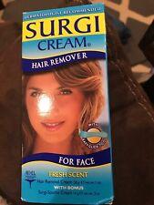 Surgi Care Cream Hair Remover for Face Fresh Scent 1oz w/ Maple Honey 82502