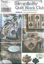 7035 Simplicity Quilt Block Club # 5 A New Leaf & Flying Geese