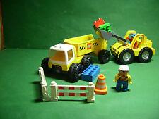 Lego Duplo Kipper Sattelzug mit Radlader,Baustelle