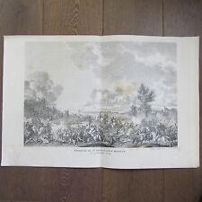 GRAVURE 1850 PAR VERNET NAPOLÉON 1796 BATAILLE DE ST GEORGE PRES MANTOUE