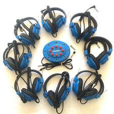 Set 8 Lakeshore Multipurpose Headphones + Junction Box w/ Volume Control Tested