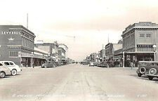 Douglas AZ G Avenue Street View Store Fronts Old Cars RPPC Postcard
