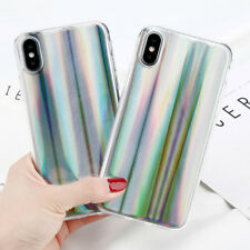 iPhone X Case Rainbow Holo Chrome Laser Holographic High Quality Rubber New