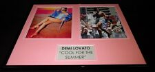 Demi Lovato Signed Framed 16x20 Photo Set Cool for the Summer JSA