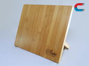 Magnetischer Messer Halter aus Bambus - Starker Magnet Küche Messer